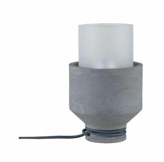 Lampa stołowa Neordic Helin - beton, szkło