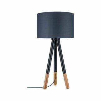 Lampa stołowa Neordic Rurik - drewniany tripod z abażurem
