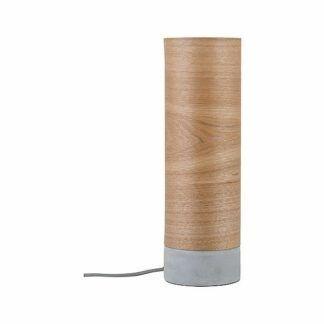 Lampa stołowa Neordic Skadi - drewno, betonowa podstawa