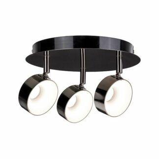 Lampa sufitowa Funnel - LED, czarny-chrom