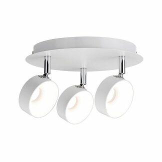 Okrągła lampa sufitowa Funnel - 3x6W, biały-mat/chrom