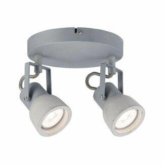 Lampa sufitowa Ogma - 2xGU10, betonowa