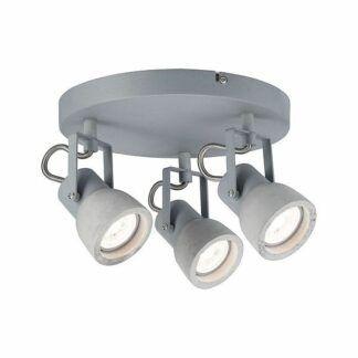 Lampa sufitowa Ogma - 3xGU10, betonowa