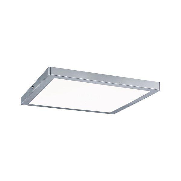 srebrny plafon led nowoczesny