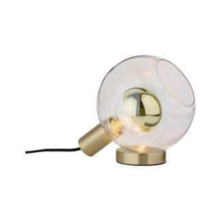 Lampa stołowa Neordic Esben - szklany klosz, złota