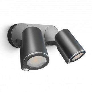 Kinkiet zewnętrzny Spot DUO - LED, antracyt, z czujnikiem
