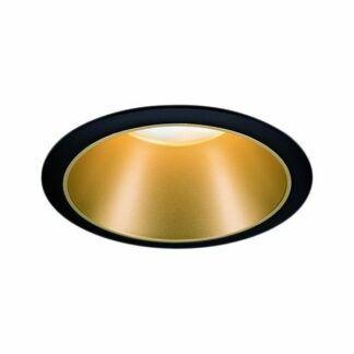Wpuszczane oczko sufitowe Cole Coin - IP44, czarno-złote