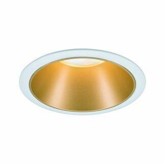 Oczko sufitowe Cole Coin - LED, biel i złoto, IP44