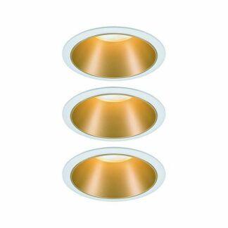 Oczko sufitowe Cole Coin - złoto-białe, IP44