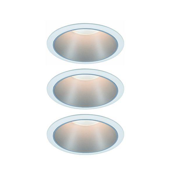 biało-srebrne oczko sufitowe