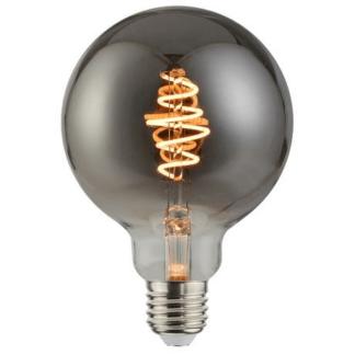 Szara żarówka E27 - dekoracyjna, LED, okrągła