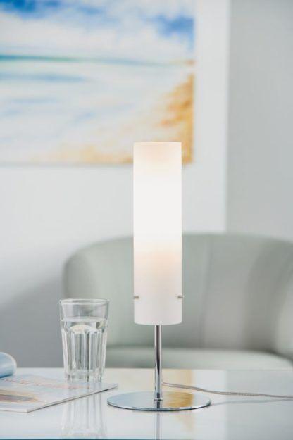 lampa stołowa klosz szklany