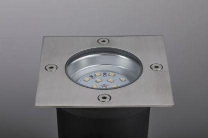 lampa tarasowa podłogow srebrna