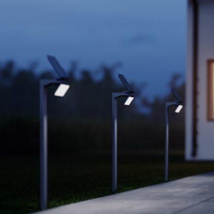 oświetlenie ogrodu podjazdu nowoczesna lampa