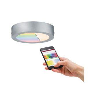 Srebrny plafon Cesena - LED, 17cm, chrom, SmartHome