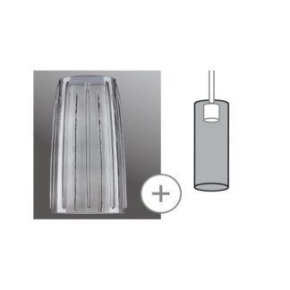 Szklany klosz Drio - szkło dymne,URail 2Easy