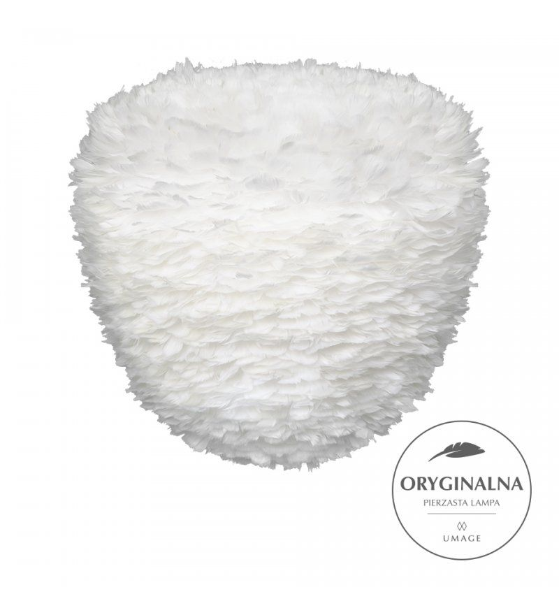 Lampa wisząca Eos Evia Large  - 55cm, białe pióra