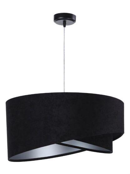 lampa wisząca podwójny welurowy klosz