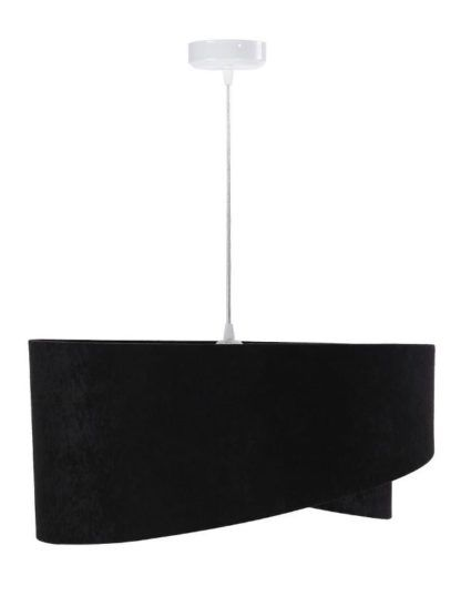 czarna lampa wisząca z weluru