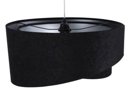 czarna welurowa lampa wisząca