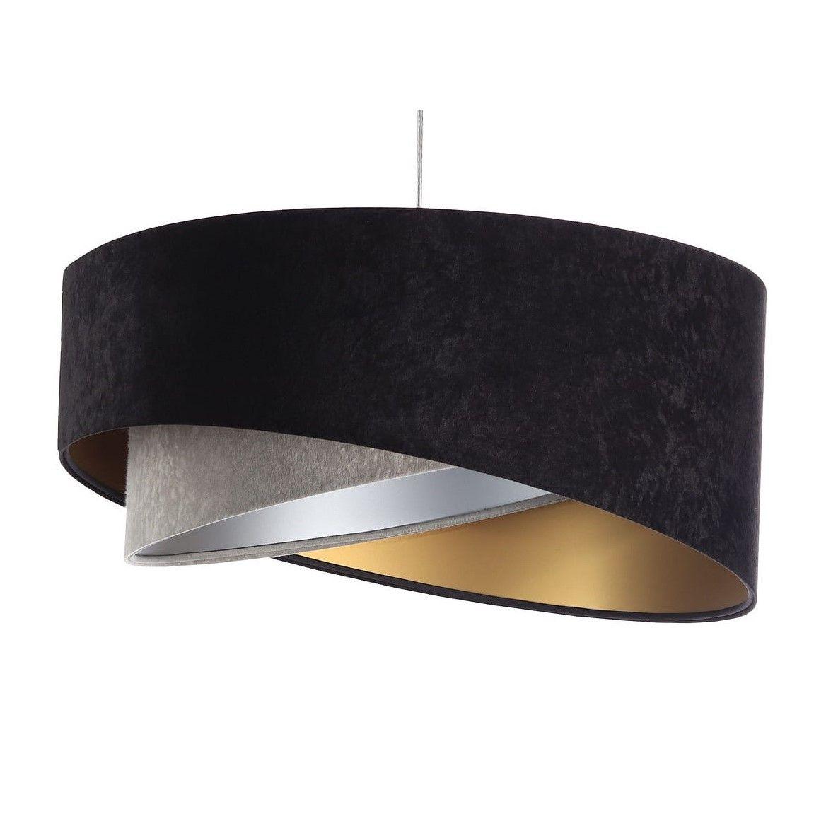 lampa wisząca zamszowy abażur nowoczesna
