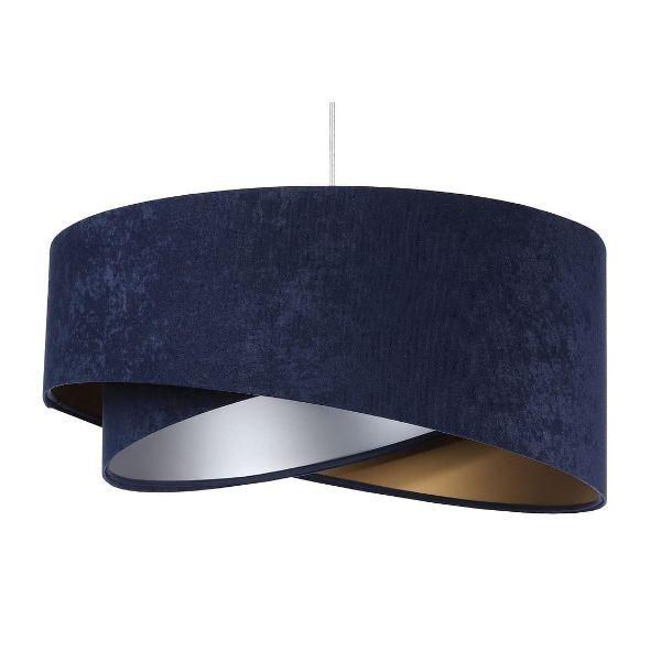 lampa wisząca z weluru elegancka
