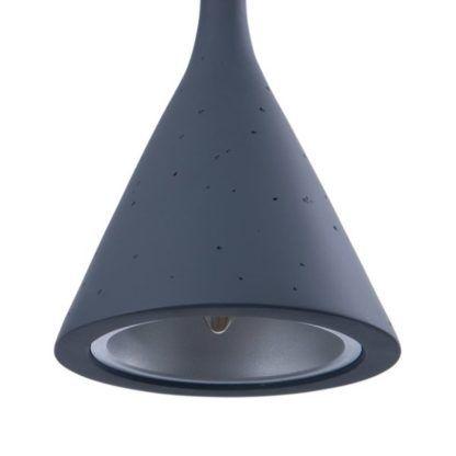 szara lampa wisząca efekt betonu