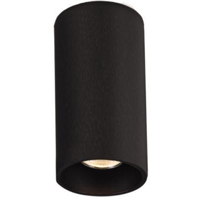 czarny spot sufitowy tuba