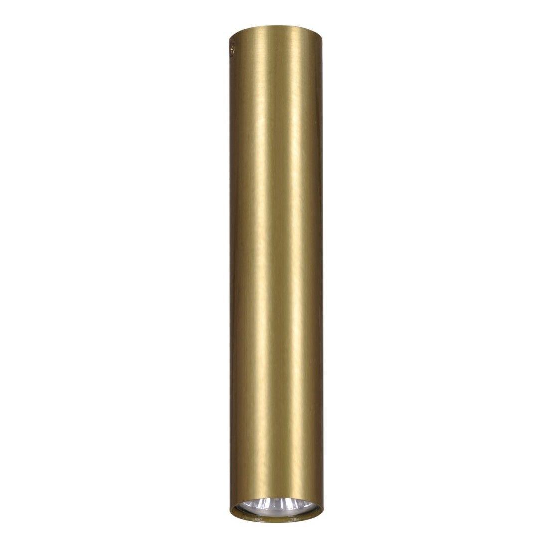 Złota lampa sufitowa Berga L - tuba