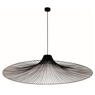 Duża lampa wisząca Dot - druciany klosz, czarna