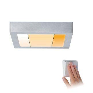 Kwadratowy plafon Carpo S - LED, 3 kolory światła