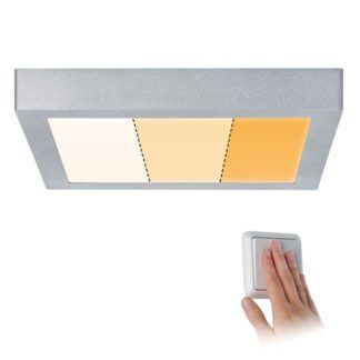 Srebrny plafon Carpo - LED, 3 kolory światła