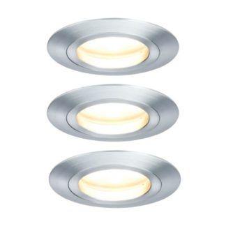 Zestaw oczek sufitowych Coin - 3 szt, srebrne, LED, IP44