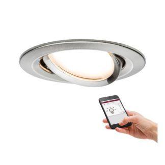Srebrne oczko sufitowe Nova Plus - LED, IP23, SmartHome