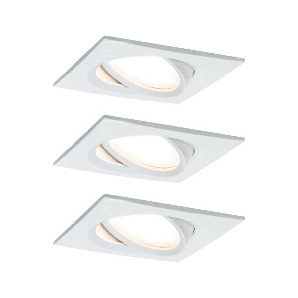 Zestaw oczek sufitowych Nova Plus - LED, białe, kwadratowe