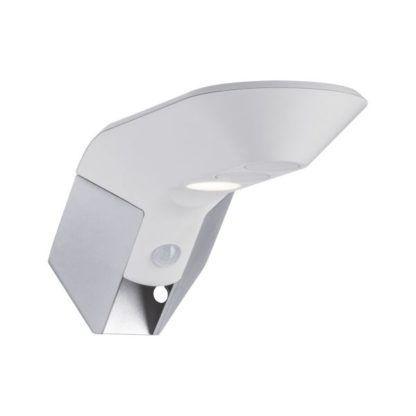 Biały kinkiet zewnętrzny Soley - IP44, 3000K, czujnik ruchu