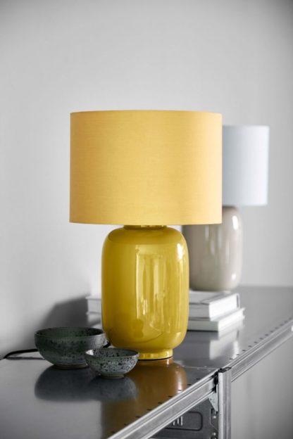 musztardowa lampka nocna ceramiczna