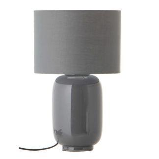 Szara lampa stołowa Cadiz - ceramiczna podstawa