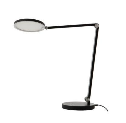 czarna lampa biurkowa led
