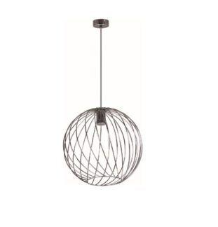 Lampa wisząca Modena - srebrna kula