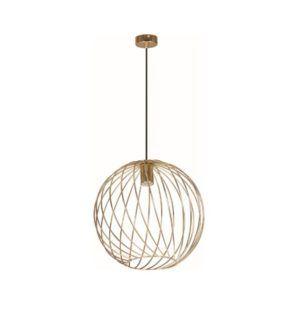 Okrągła lampa wisząca Modena - mosiądz