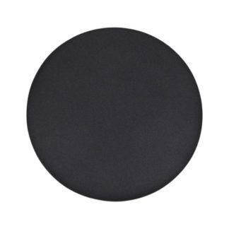 Czarny kinkiet Rega - okrągły, płaski