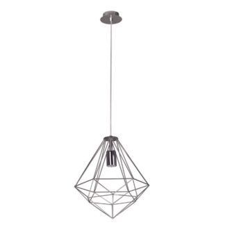 Lampa wisząca Silver - druciany diament