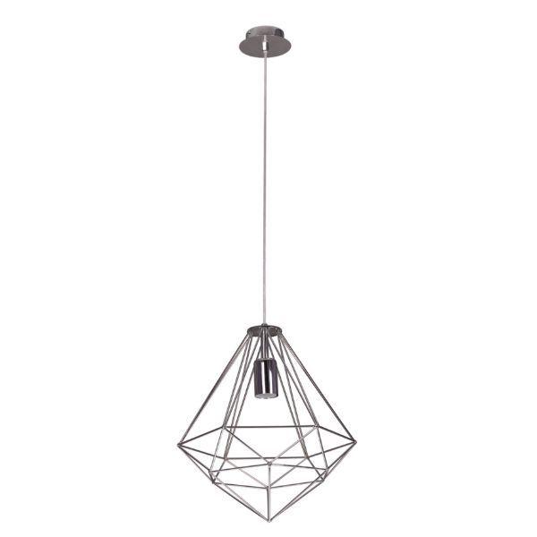 srebrna druciana lampa wisząca