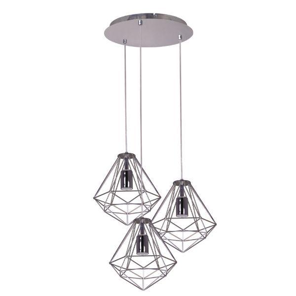 lampa wisząca srebrny druciak