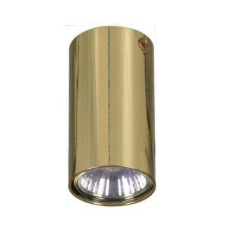 Lampa sufitowa Cork S - tuba, złoty połysk