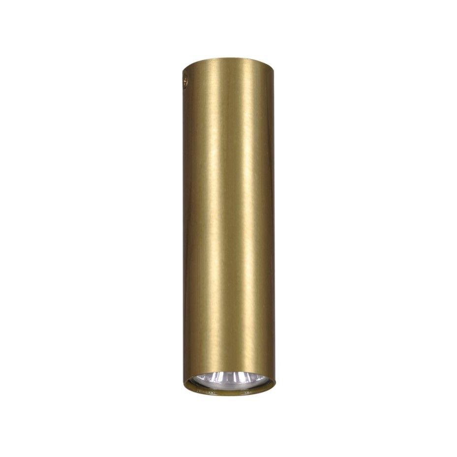 Nowoczesna lampa sufitowa Berga M- złota tuba