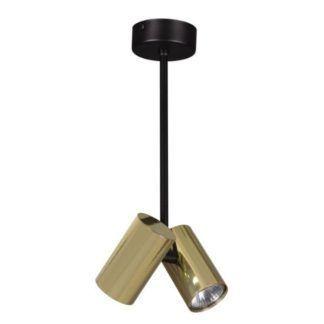 Lampa wisząca Horin - dwa reflektory, złota