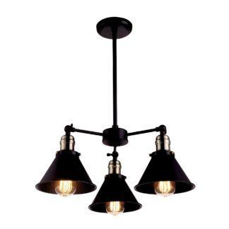 Żyrandol industrialny Moreno - czarny, metalowy
