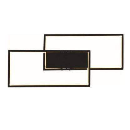 lampa sufitowa czarna led geometryczna